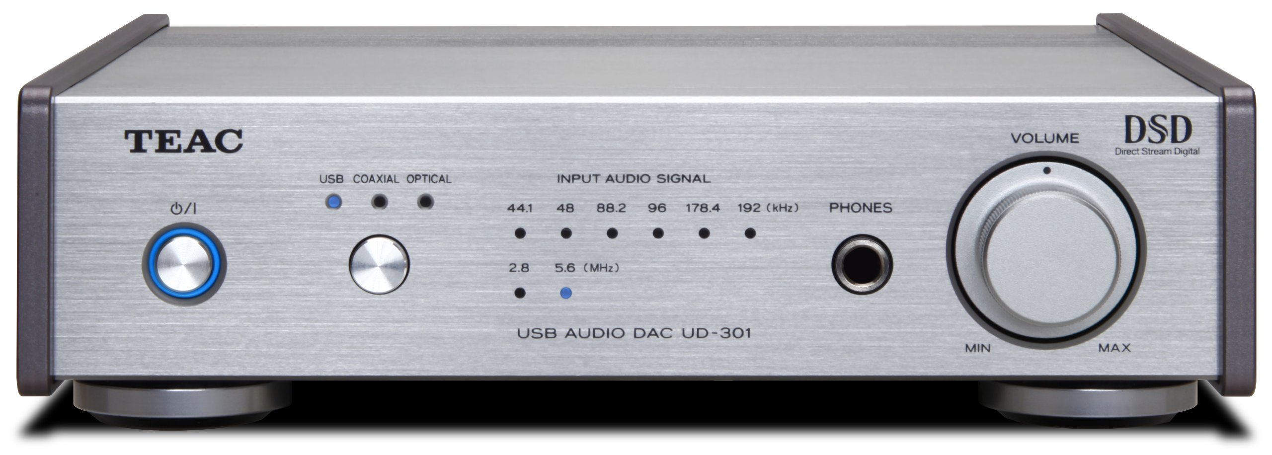 TEAC UD-301-S Reference 301 D / A converter dual mono configuration hi-res sound source corresponding Silver