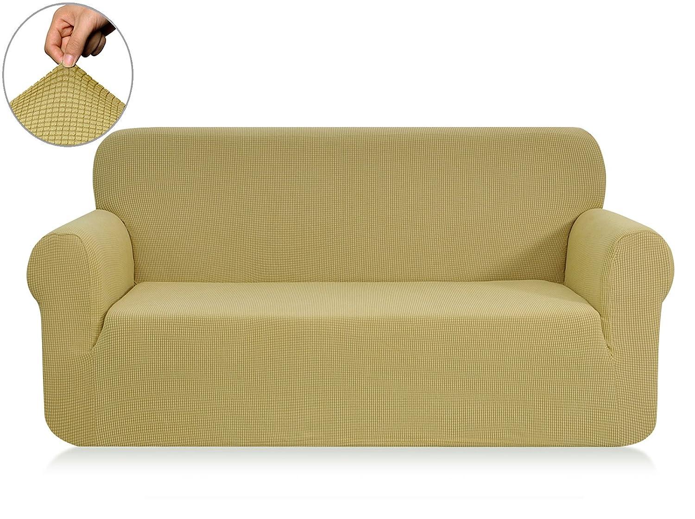 (XL Sofa, Light Yellow) CHUN YI Jacquard Sofa Covers 1-Piece Polyester Spandex Fabric Slipcover (XL Sofa, Light yellow) B07BF7RR9R XL Sofa|ライトイエロー ライトイエロー XL Sofa