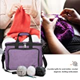 ProCase Knitting Bag, Yarn Storage Organizer Tote