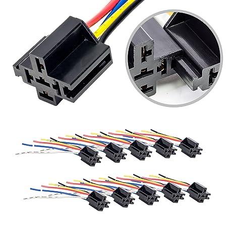 ONLINE LED STORE 10 Pack - Bosch Style 12V DC 5-PIN SPDT Interlocking on