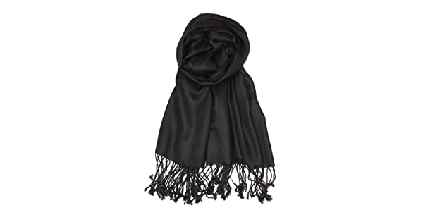 6b6a8fd0194b5 Achillea Large Soft Silky Pashmina Shawl Wrap Scarf in Solid Colors  ACHI-30-01 Accessories