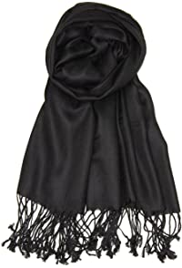 Womens Petal Knit Scarf - BLACK Lands End