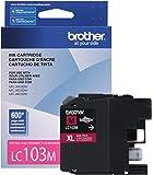 Brother LC-103M DCP-J132 J152 J171 J4110 J552 J752 MFC-J245 J285 J4310 J4410 J450 J4510 J870 J875 Ink Cartridge (Magenta) in Retail Packaging (LC103M)