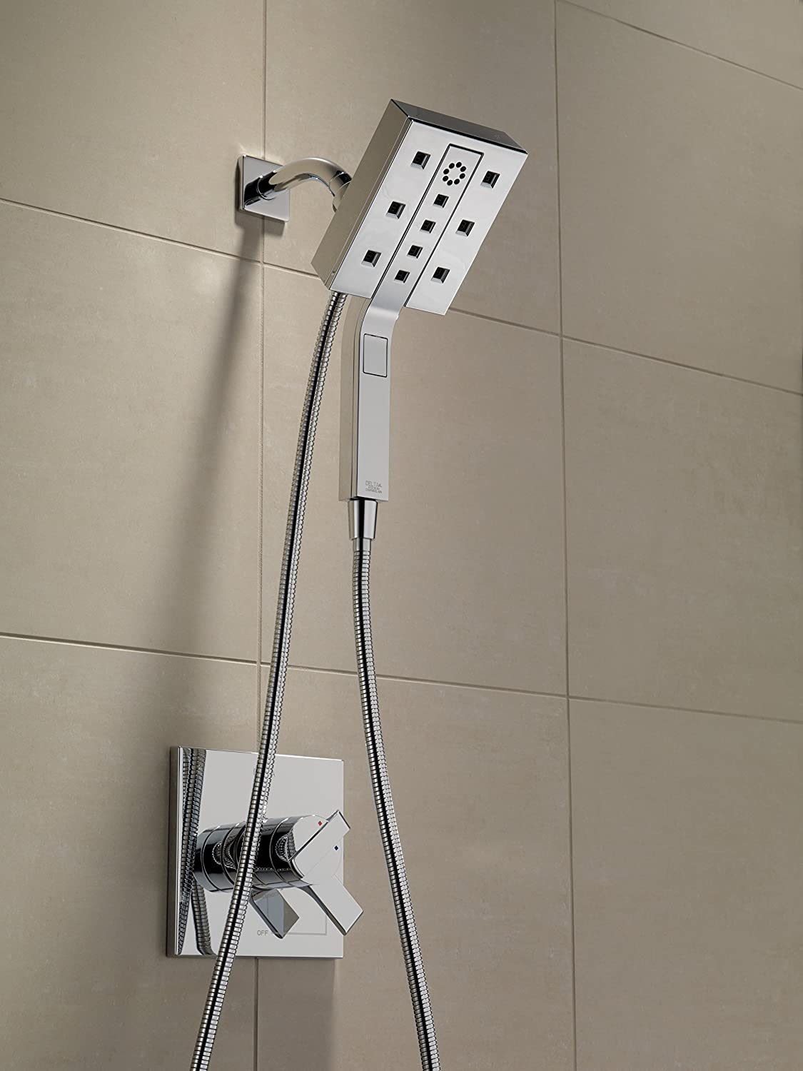 Delta Faucet 58470 In2ition Two-In-One Shower, Chrome - Tub And ...