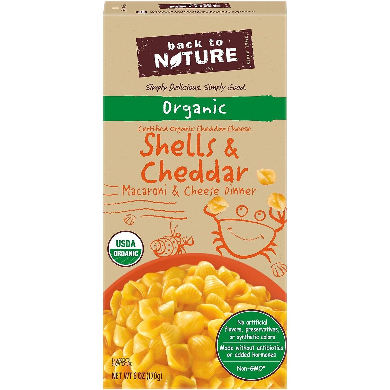 Back to Nature Organic Shells & Cheddar Macaroni and Cheese (6 oz Box)