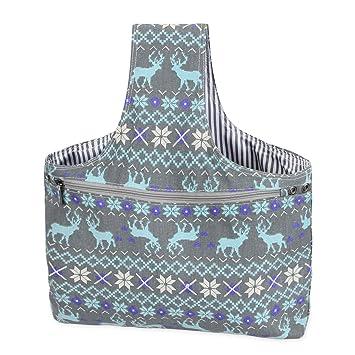 Teamoy Bolso de Ovillos Bolsa en Mano de Tejer Bolsos para Agujas Mochila de Crochet (Grande, Alce): Amazon.es: Hogar