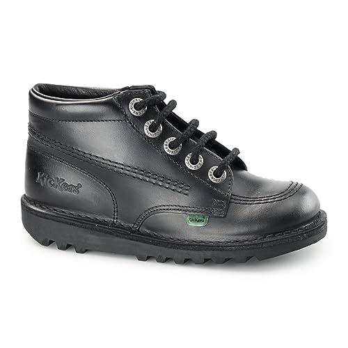 8be502aa Kickers KICK HI J CORE Junior Leather Lace-Up Boots Black 34 (UK 2 Junior):  Amazon.co.uk: Shoes & Bags