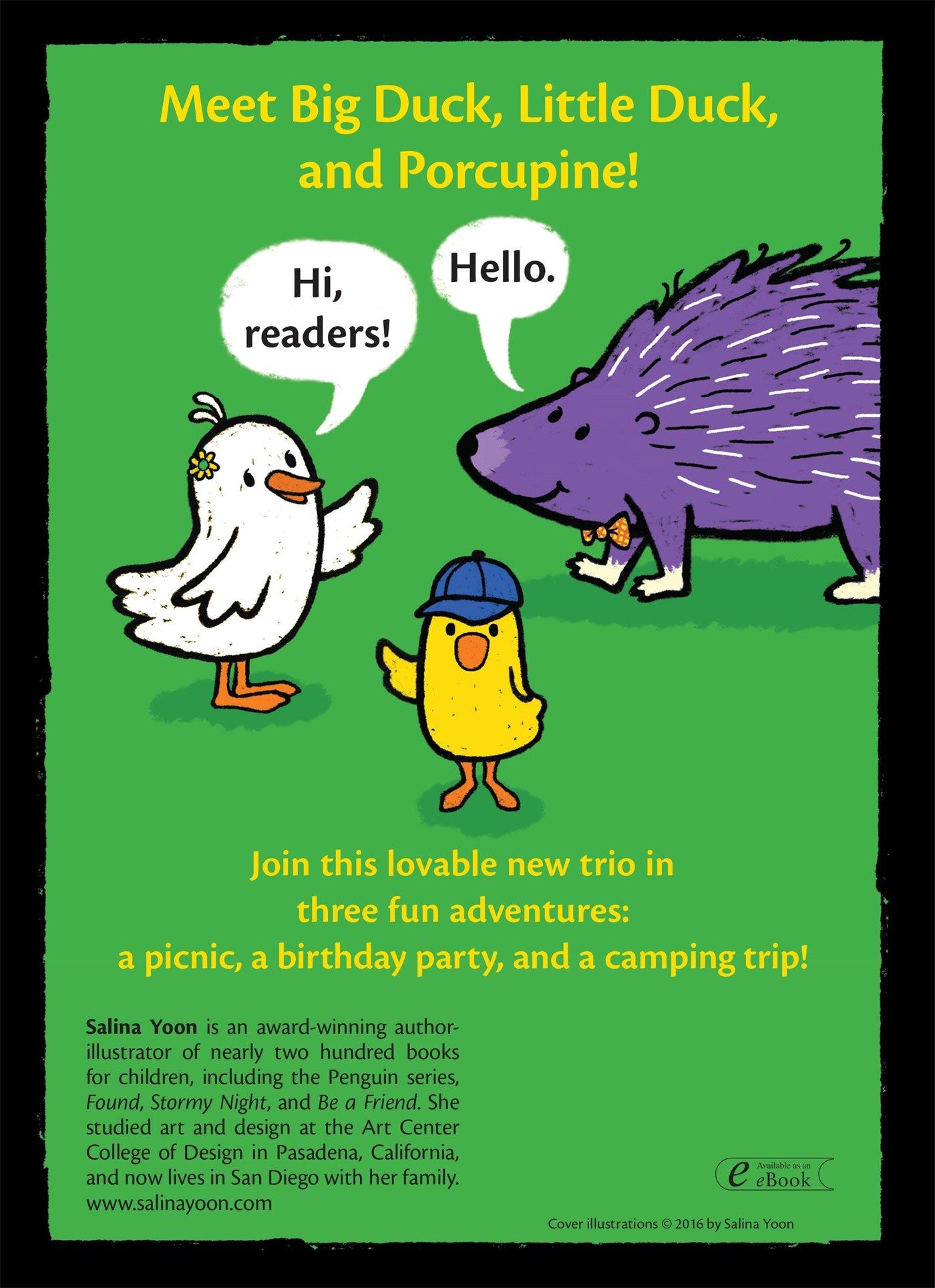 Duck, Duck, Porcupine! (a Duck, Duck, Porcupine Book): Salina Yoon:  9781619637238: Amazon: Books
