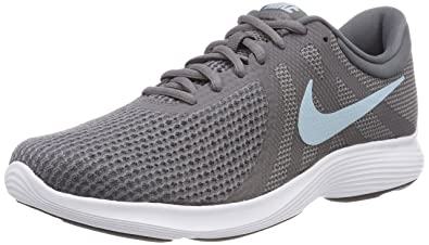 Nike Damen Revolution 4 Traillaufschuhe, Grau (Gunsmoke/Ocean Bliss/Dark Grey/White/Black), 38.5 EU