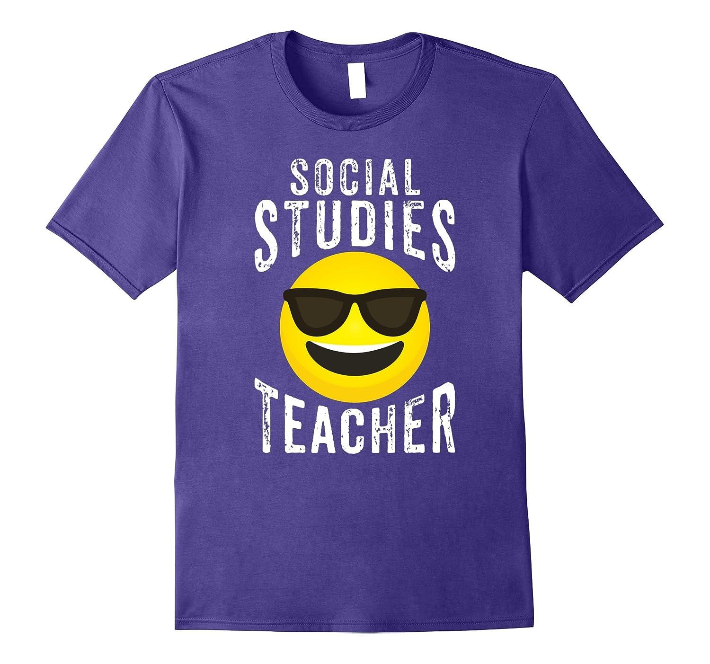Social Studies Teacher Shirt - Emoji Social Studies T-shirt-FL