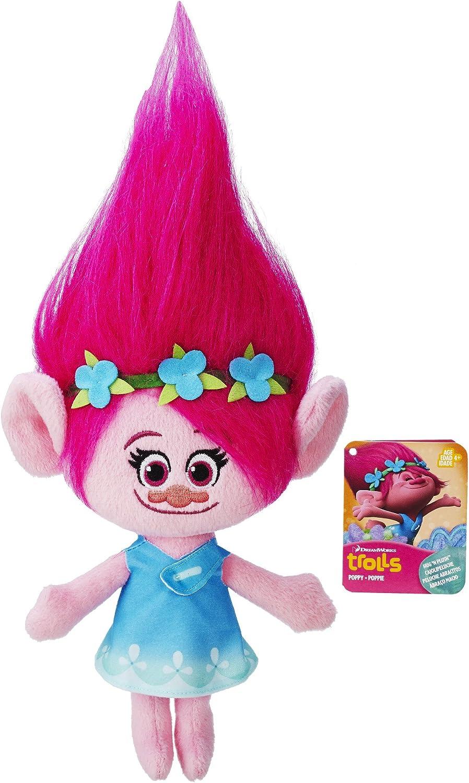 Plush Backpack Dreamworks Trolls Poppy Head Shaped Day Bag Shopping Pink Girls