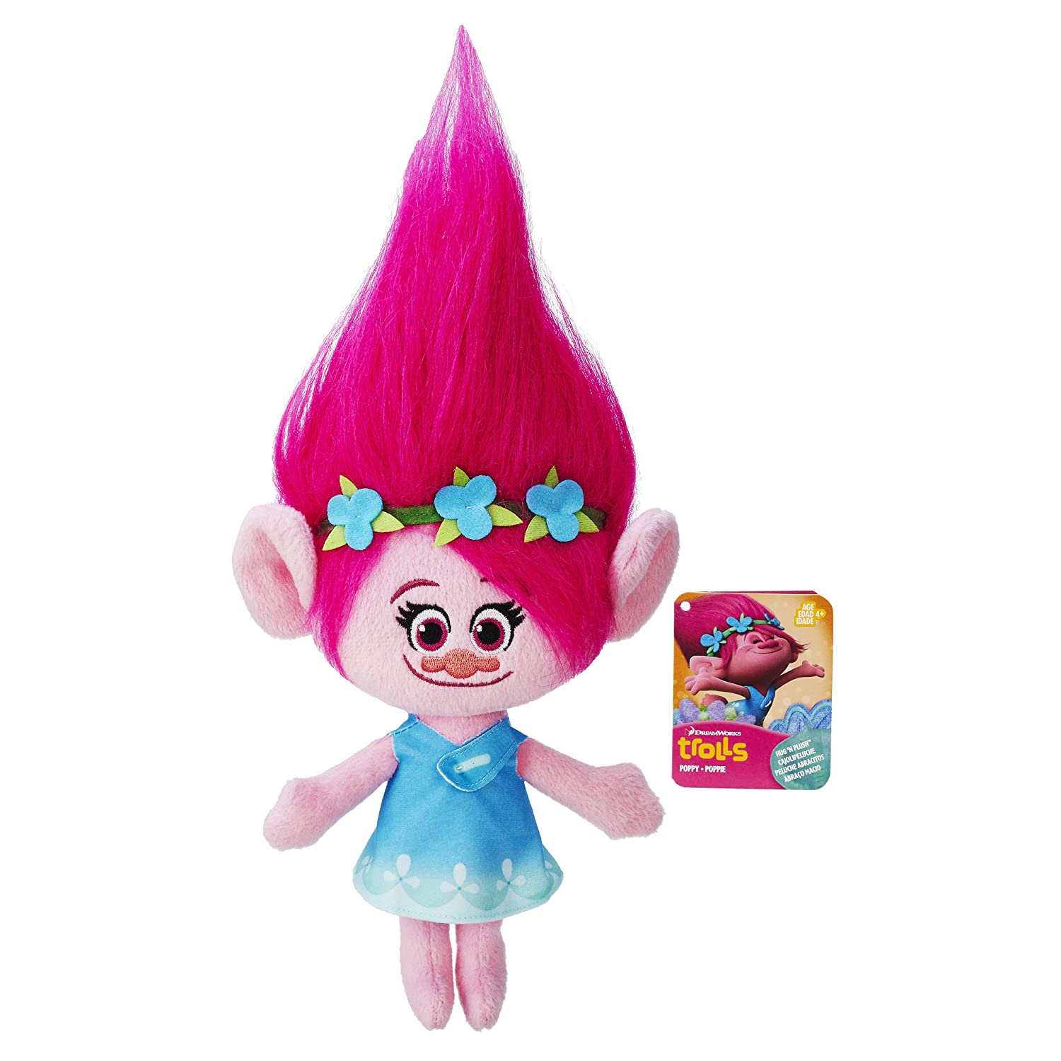 DreamWorks Trolls Poppy Hug 'N Plush Doll Hasbro B7614AS0