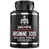 Dr. Emil - L Arginine (3150mg) Highest Capsule Dose - Nitric Oxide Supplement for...