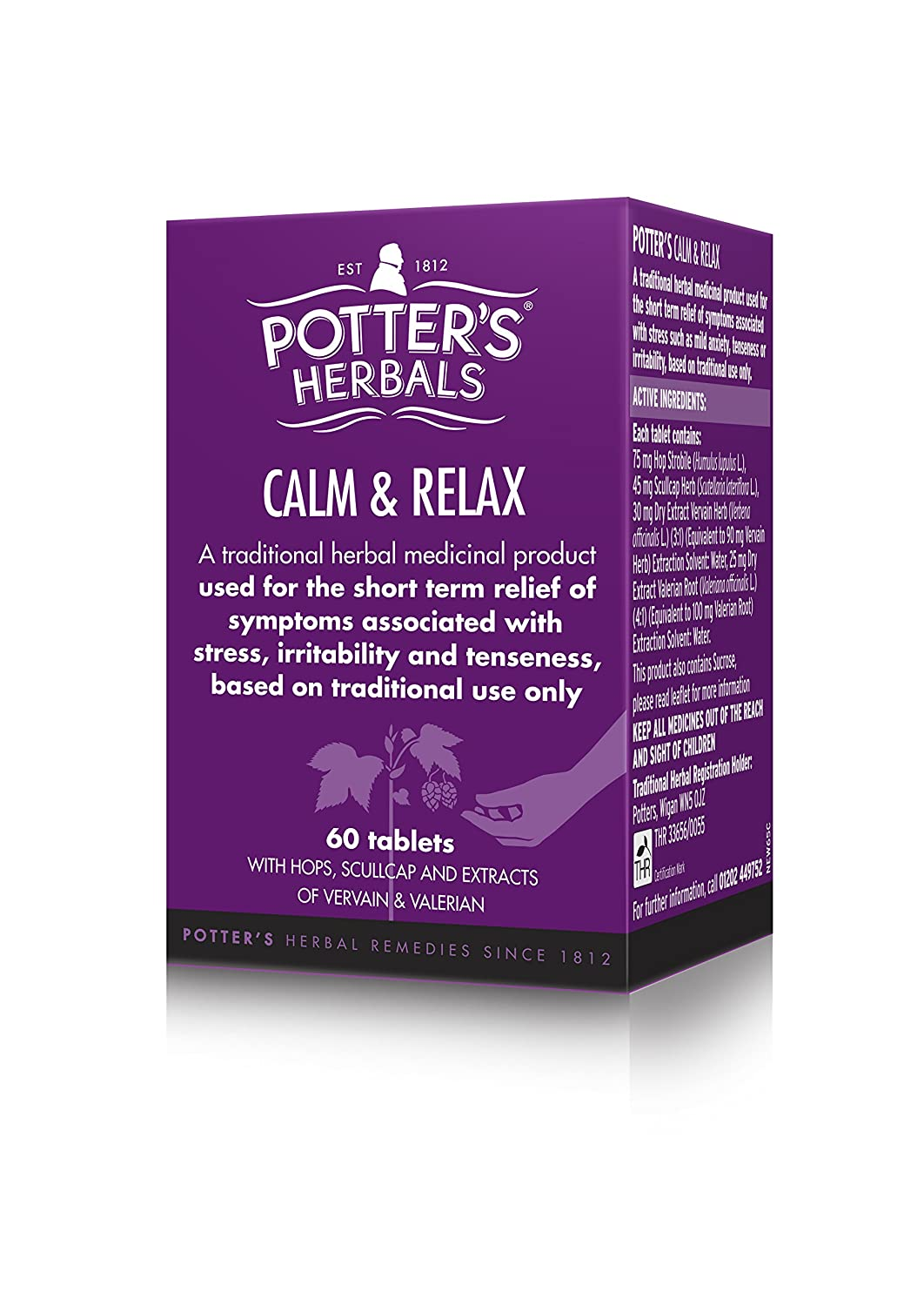 Potters Herbals New Relax - Pack of 60 Tablets: Amazon.es: Electrónica