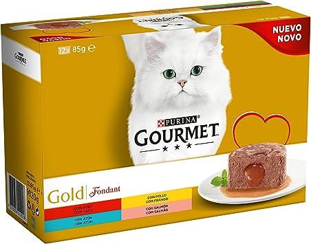 Purina Gourmet Gold Fondant comida para gatos Surtido sabores 8 x ...