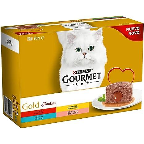 Purina Gourmet Gold Fondant comida para gatos Surtido sabores 8 x [12 x 85 g