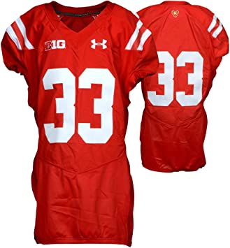 big sale 2fc7f c4062 Amazon.com: Maryland Terrapins Team-Issued #33 Red Throwback ...