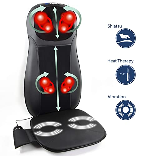 Zyllion Shiatsu Neck And Back Massager Cushion