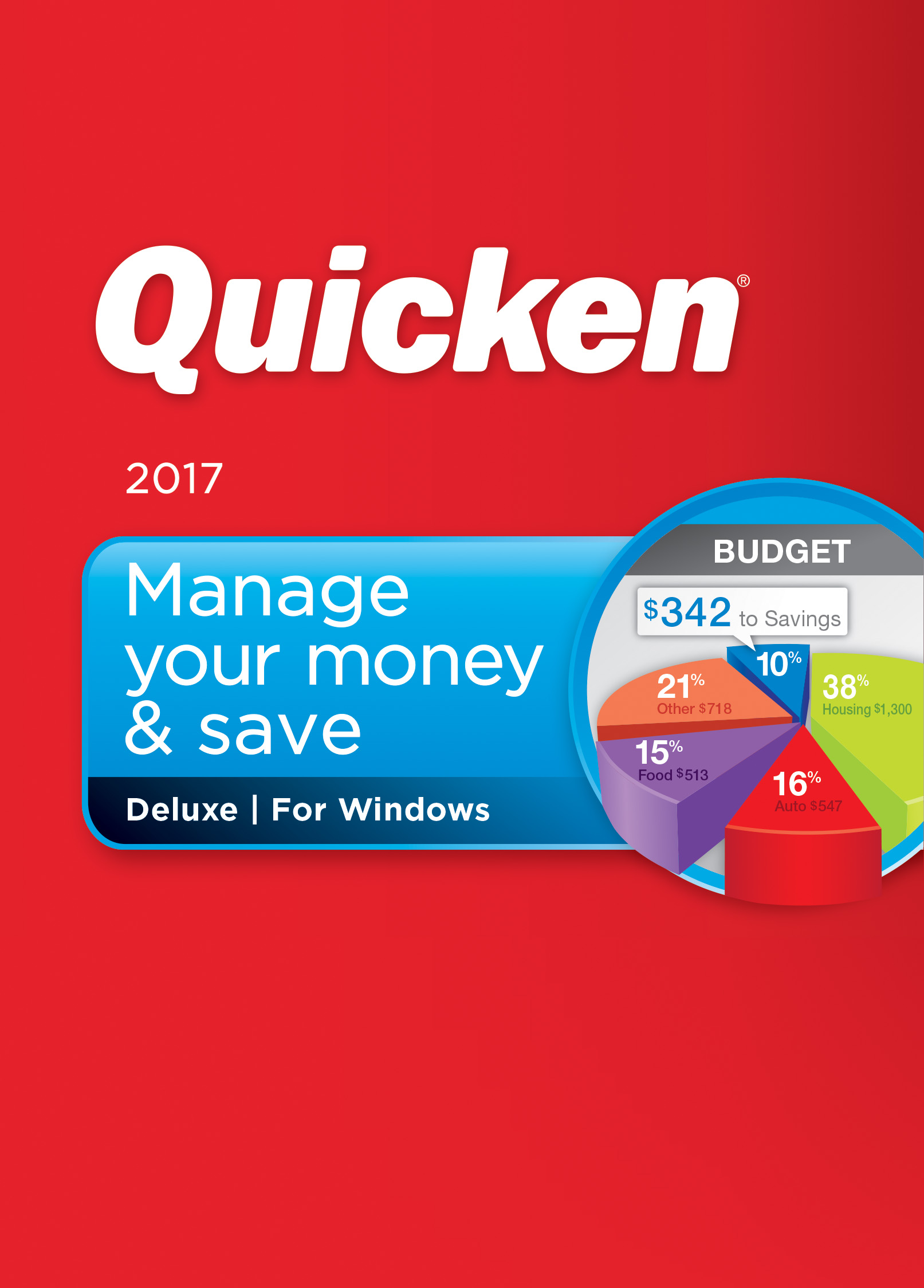 Software (Quicken Deluxe 2017 Personal Finance & Budgeting Software)