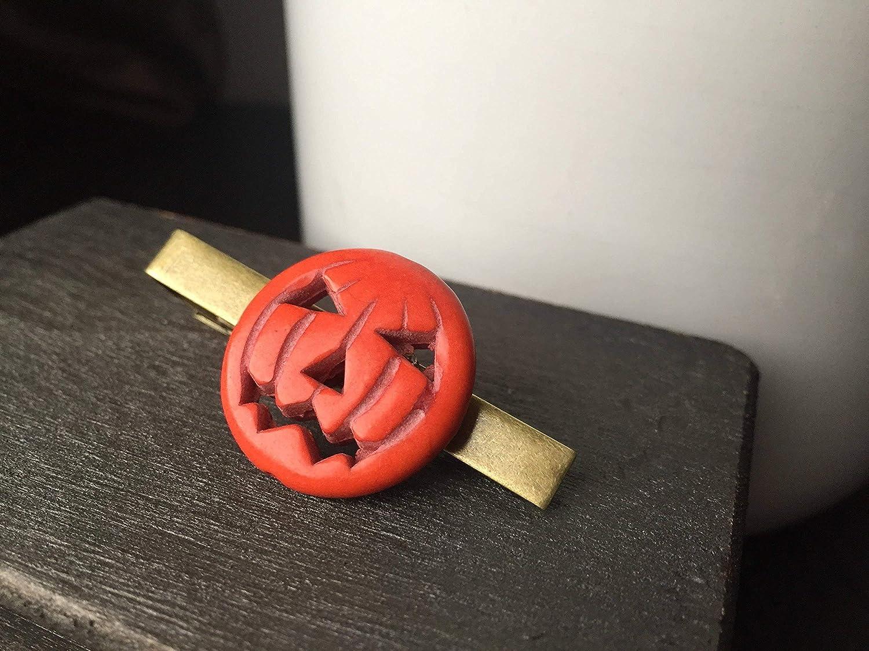 Amazon Com Halloween Pumpkin Tie Clip By Arcanum By Aerrowae
