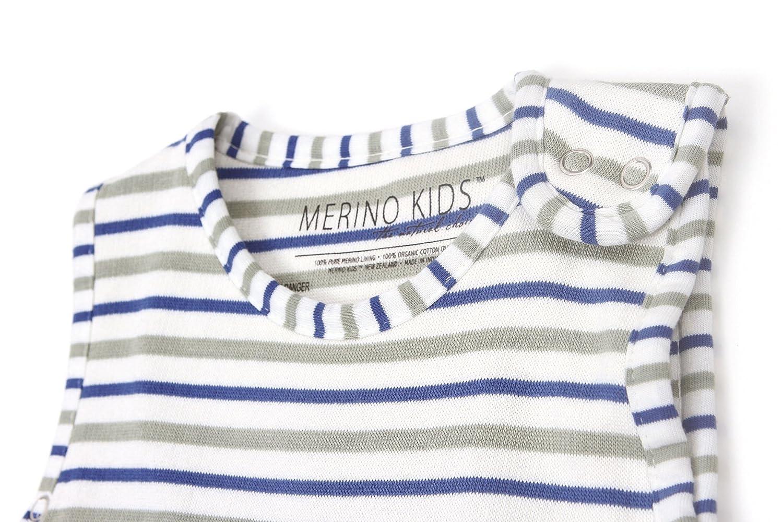 Light Grey//Grey Stripe Merino Kids Winter-Weight Baby Sleep Bag for Toddlers 2-4 Years