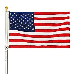 Ezpole Flagpoles, Liberty Flagpole Kit, Telescoping Flagpole 17-Feet