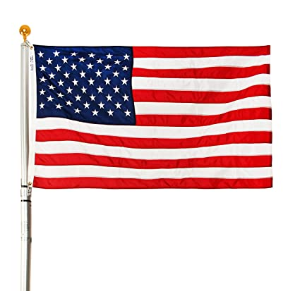 Ezpole Flagpoles, Liberty Flagpole Kit, Telescoping Flagpole 21-Feet