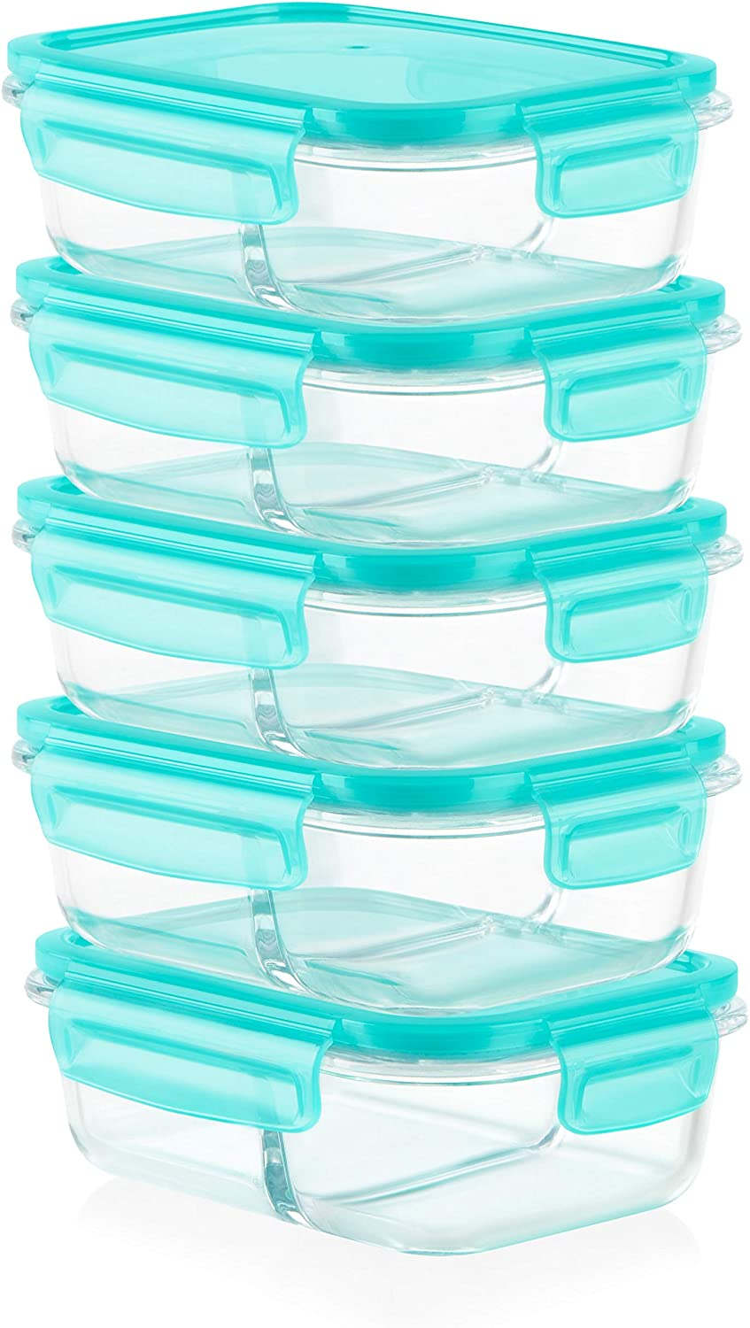 Pyrex Mealbox Bento Box, divided glass food storage containers, 10-Piece
