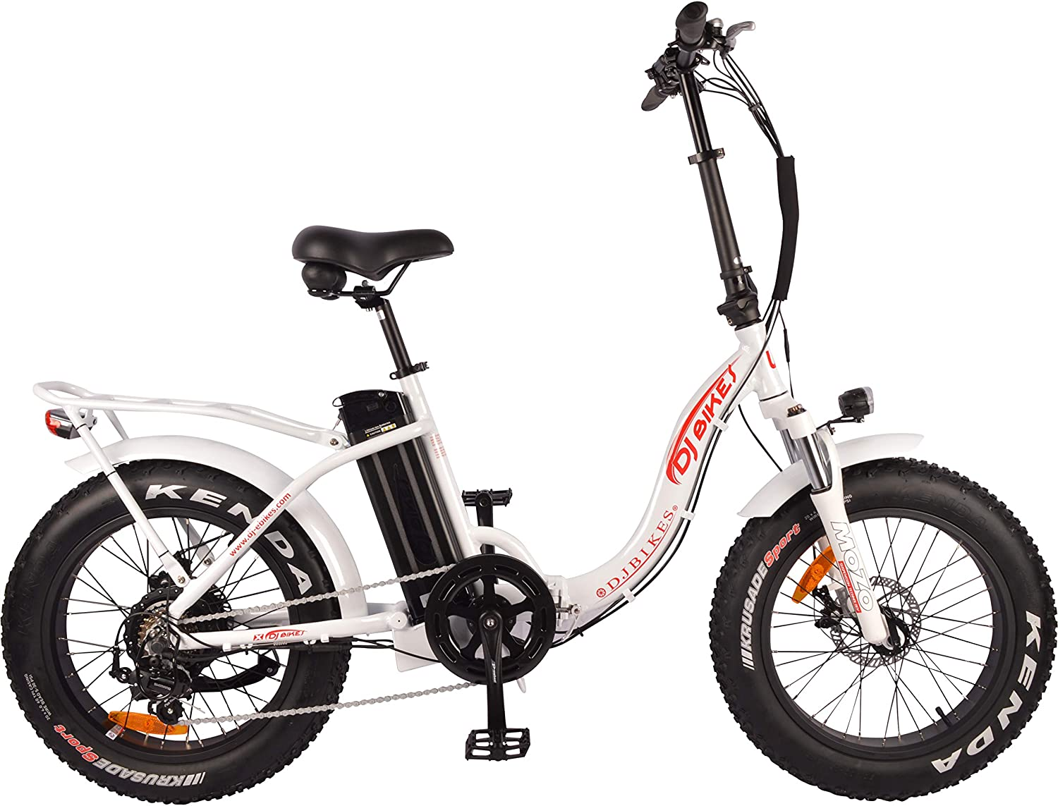 Electric Bikes For Seniors -  DJ Folding Step Thru 750W Power Electric Bicycle