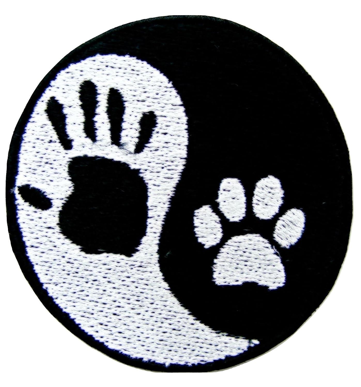 Emporium Embroidery Yin Yang Mano y Huella de Perro Bordado Hierro en Parches Chaqueta Badge Cap Jeans Applique [tamaño Mediano]: Amazon.es: Hogar