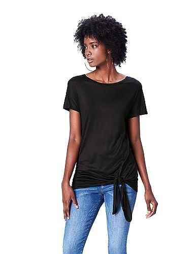 FIND Camiseta Ancha con Cuello Redondo Mujer