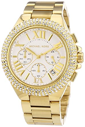 d501d1c42223 Michael Kors MK5756 Women s Camille Gold-Tone Glitz Stainless Steel  Bracelet Watch