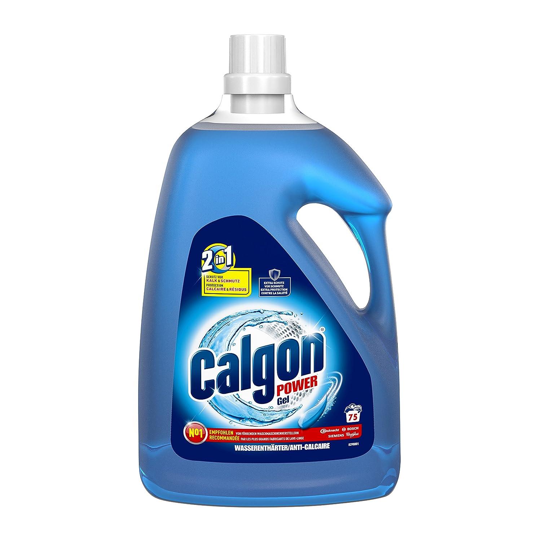 Calgon 2 in1 - Gel, ablandador de Agua contra la Cal y Suciedad en la Lavadora, 3,75 L: Amazon.es: Hogar