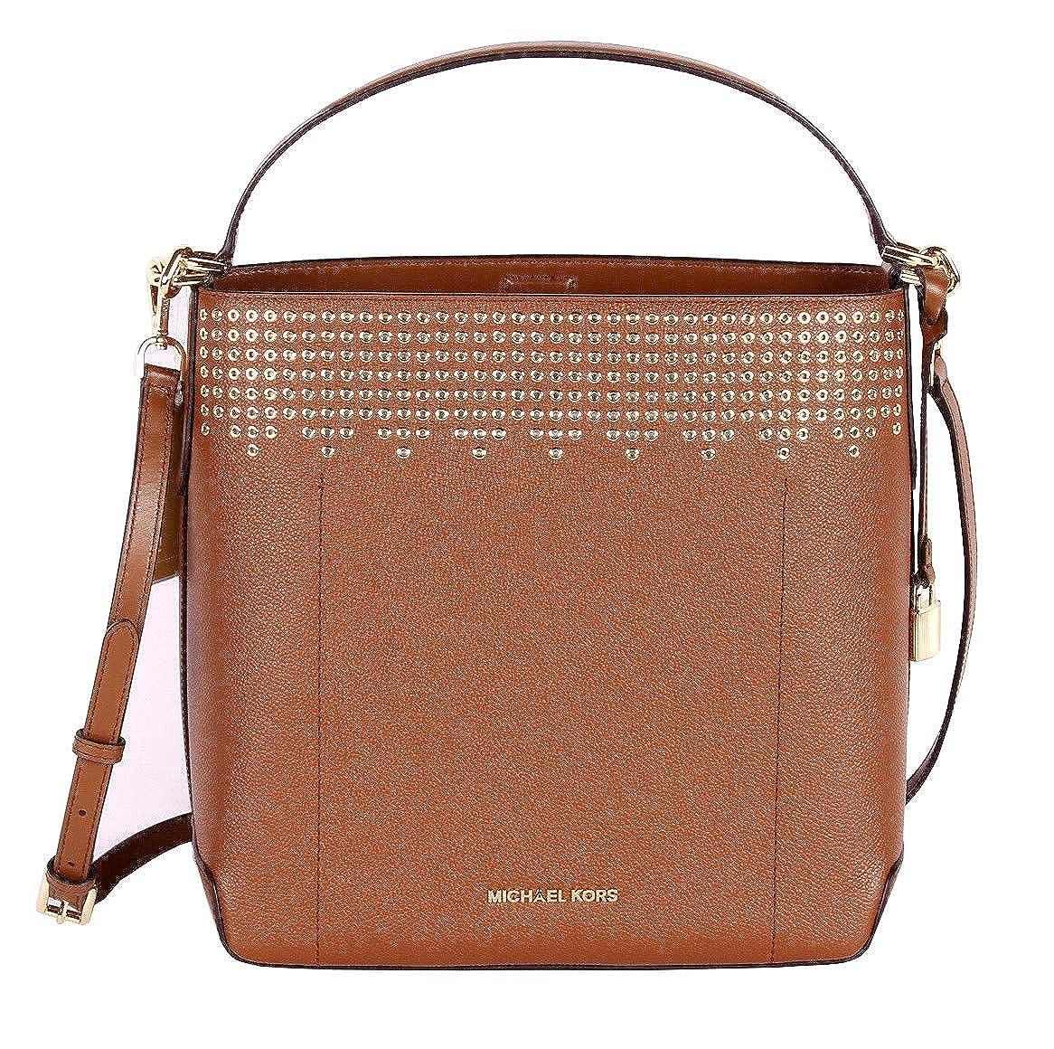 471631b1e6c925 MICHAEL Michael Kors Hayes Bucket Brown Large Shoulder Bag - Luggage/Ballet:  Handbags: Amazon.com