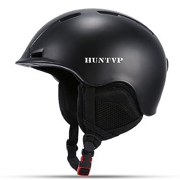 Huntvp Casco de Esquí (Ski Helmet) Profesional para Adultos A Prueba de Viento con