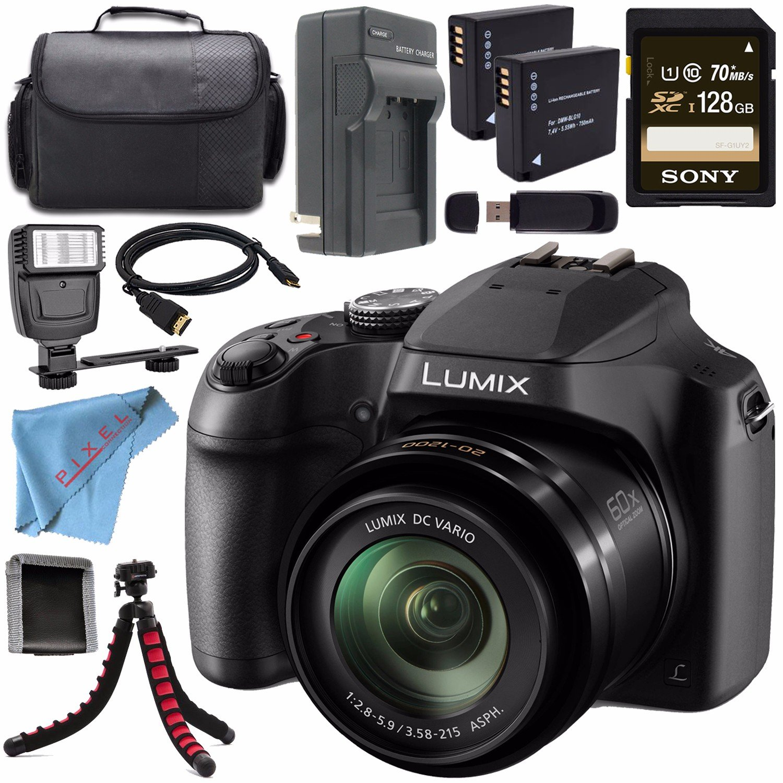 Amazon.com: Panasonic Lumix dc-fz80 dc-fz80 K + Batería ...