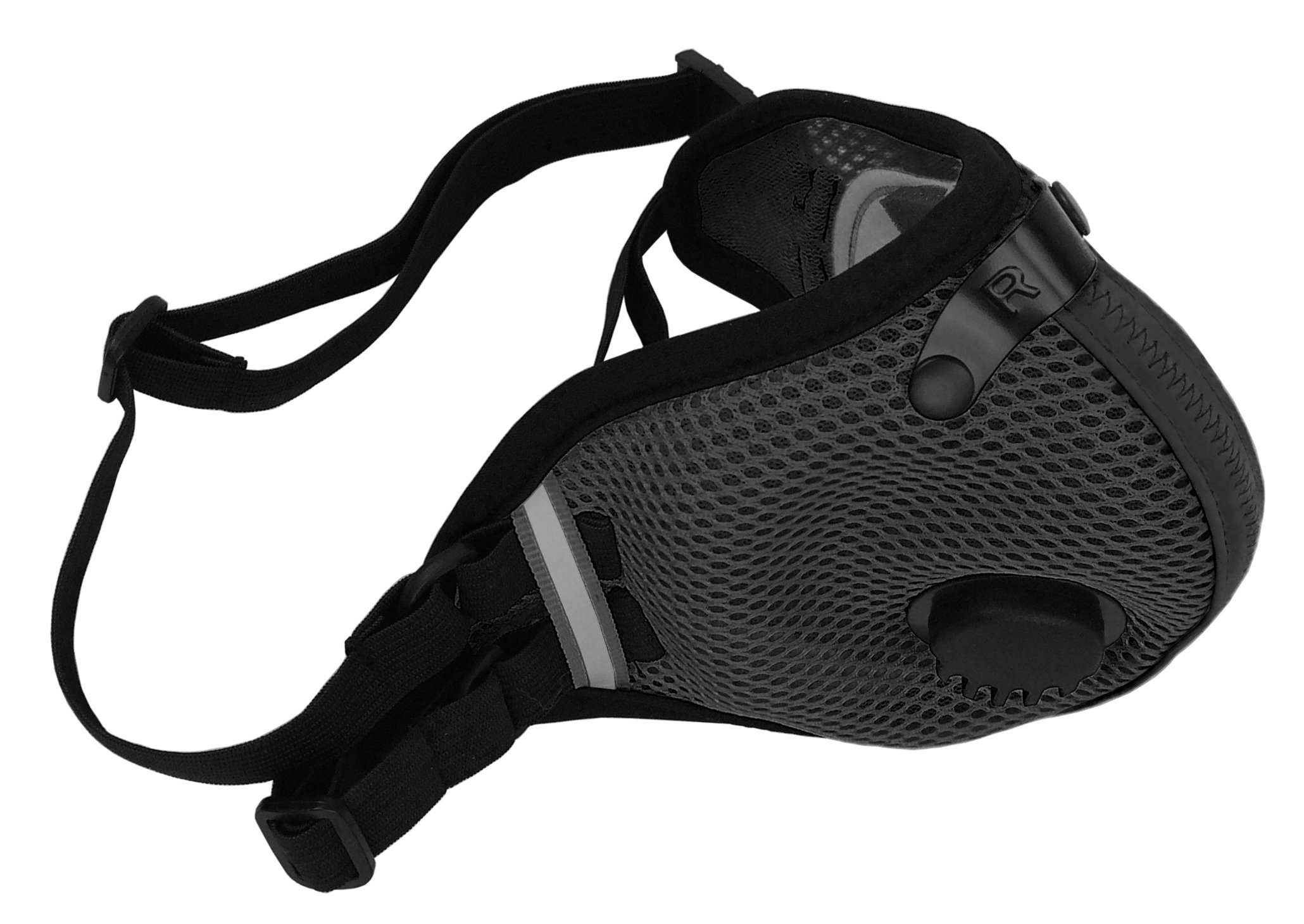 RZ M2.5 Dual Strap Mesh Dust/Air Filtration Mask Bonus Pack Mask Washable New Adjustable Straps Allergy/Asthma/Construction/Woodworking/Pollution/Adult (Large (125lbs - 215lbs), Black) by RZ Mask (Image #3)