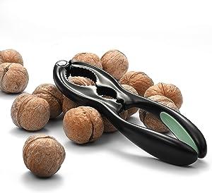 Mujo Nut Crackers Chestnut Opener Seafood Sheller Heavy Zinc Alloy Nutcracker Pecan Walnut Plier Clip Tool with Good Grips Kitchen Utensils