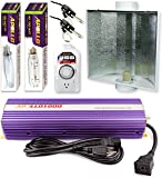 Apollo Horticulture GLK1000LS24 1000 Watt Grow Light Digital Dimmable HPS MH System for Plants Air Cool Hood Set