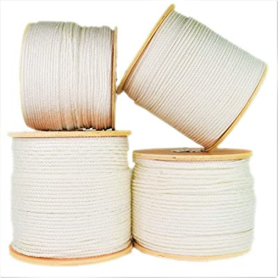 SGT Knots Crab Fishing Line Tire Cord - Diamond Braid Utility Rope with Parallel Core - Abrasion & Marine Growth Resistant - Twisted Polyester Twine Braided Rope String - 1/4 in x 250 ft Spool, White