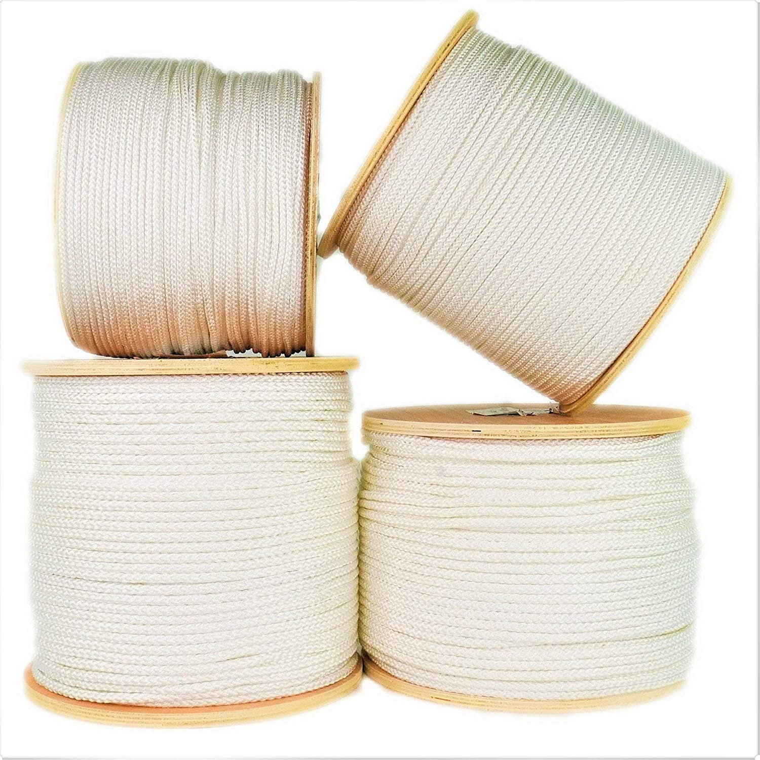 Abrasion Resistant 9//32 x 50ft Coil, White Diamond Braid Utility Cord with Parallel Core SGT KNOTS Crab Fishing Line