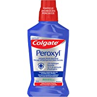 Colgate Peroxyl ANTISEPTIC MOUTH sore Rinse 1.5% Hydrogen Peroxide, 500 Milliliters