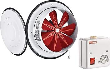 EC-1010E Deckenventilator Wandventilator Abluftventilator AC Plastik automatisch schlie/ßend