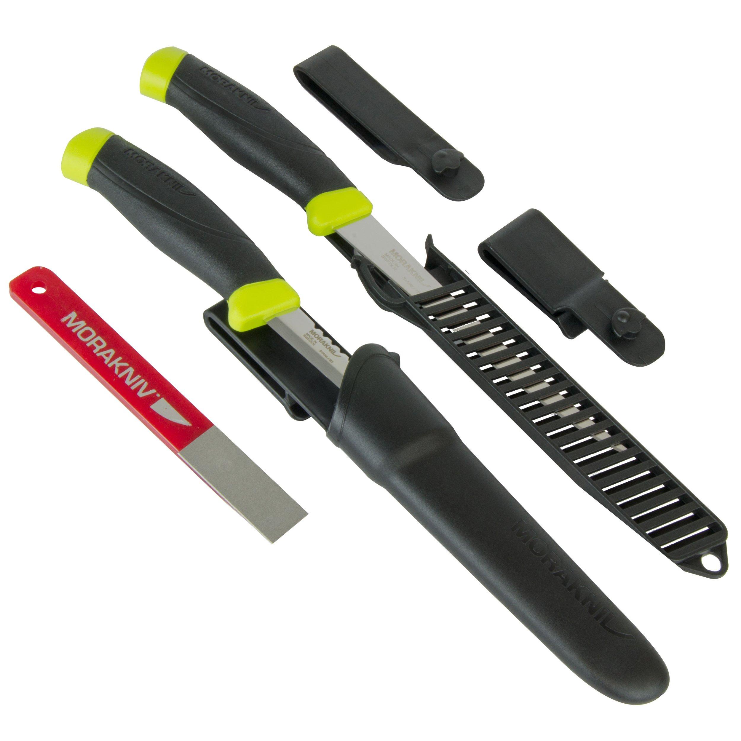 Morakniv Fishing Knife and Sharpener Set, Includes Comfort Fillet 155, Comfort Scaler 098, and Fine Diamond 600-Grit Sharpener
