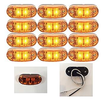 10 Stk Seitenmarkierungsleuchte  6 LEDs Orange Markierungsleuchte LKW Anhänger