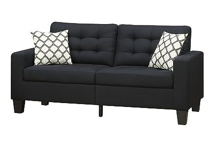 Furniture World Aston Sofa, Black