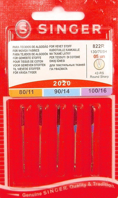 Singer - Pack de agujas de coser estándar para máquina Singer ...