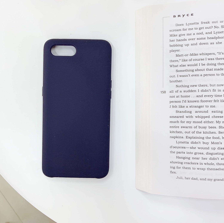 BestST Funda para Xiaomi Mi 8 Lite,Carcasa Silicona Xiaomi Mi 8 Lite Carcasa de Silicona para del Caramelo con Superfino Pelusa Forro,Anti-rasguños Teléfono Caso +Cristal Templado(Azul Medianoche)