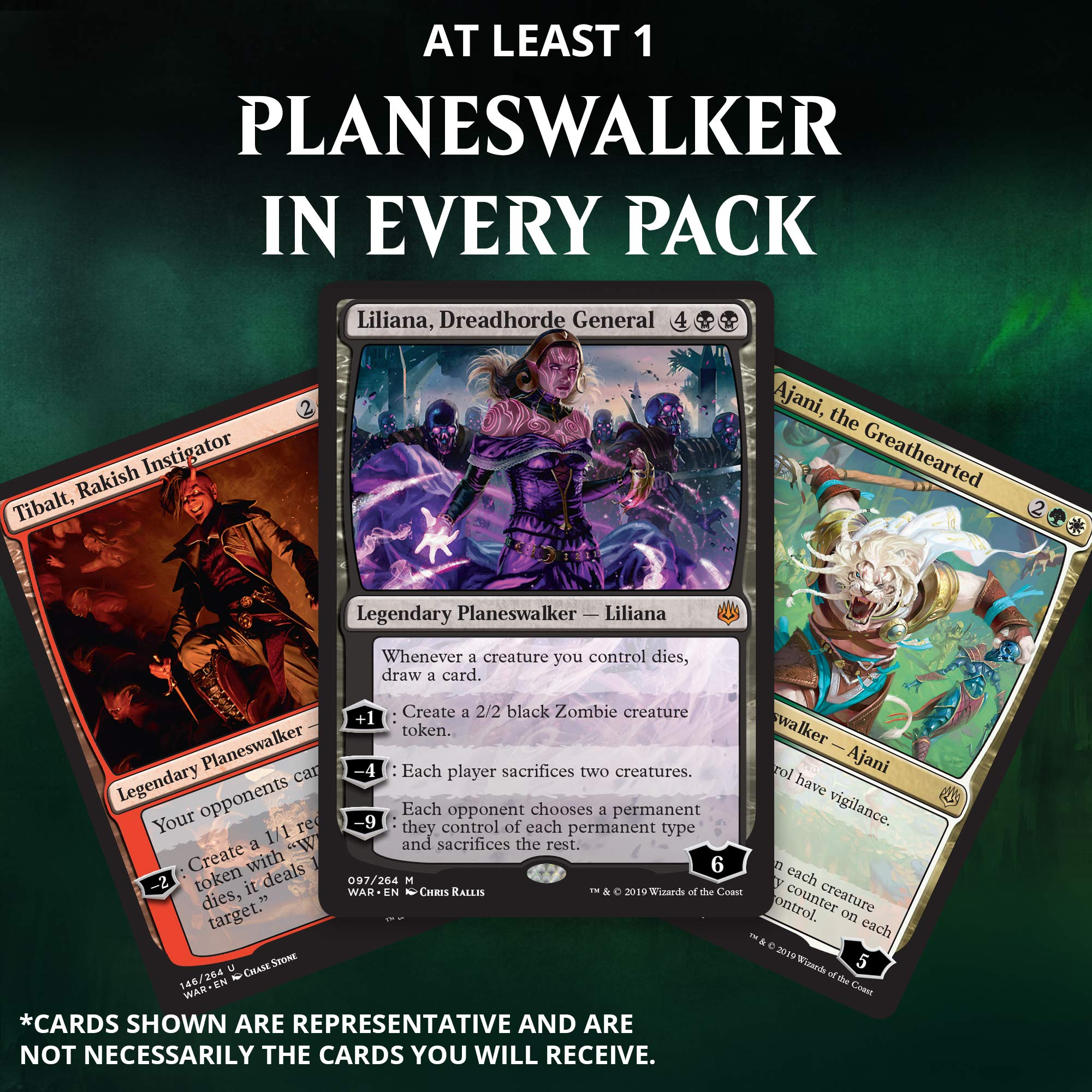 Magic: The Gathering War of The Spark Bundle | 10 Booster Packs | Accessories | Planeswalker in Every Pack by Magic: The Gathering (Image #1)