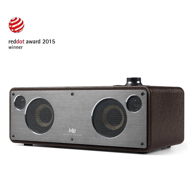 GGMM M3 Enceinte Bluetooth WiFi Sté ré o Haut-Parleurs Puissant 40W Son au Son Sté ré o Systè me Audio Multi-Room Compatible avec Airplay, Rose WS-301-36-FDE